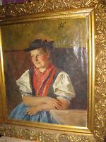 HAPP Jakob,*1861 Junges Bauernmädchen in Tracht