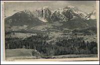 Schönau bei Berchtesgaden Postkarte 1928 gelaufen Panorama Gesamtansicht