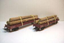 WAGONS TRAIN HO : LOT 2 PLAT A RANCHERS + CHARGEMENT BOIS de JOUEF OCCASION