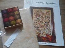 Rosewood Manor Autumn Quakers Chart.Valdani threads.Linen.Worldwide shipping.