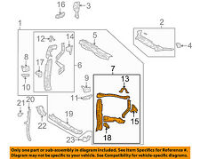 TOYOTA OEM 11-13 Highlander Radiator Core-Side Support Left 532030E050