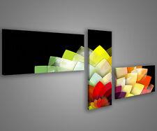 Quadri moderni astratti 180 x 70 stampe su tela canvas con telaio MIX-S_49