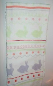 FULL UNCUT EASTER ROWS OF BUNNIES Print Cotton Kitchen Towel