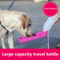 Portable Pet Dog Water Bottle Drink Fountain 250ml Cat Feed Dispenser Blue Pink