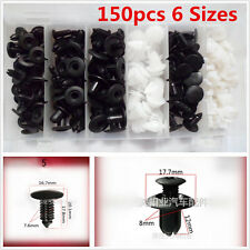 150Pcs 6 Sizes Car Body Bumper Push Pin Rivet Clip Retainer Mouldings Trim Panel