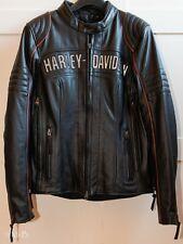 Harley-Davidson Eclipse wasserdichte Damen Lederjacke Triple Vent Größe M