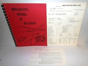 WAR GAME RULES Ancients/Classical - Bronze Iron & Blood 1000BC to 400 AD op