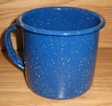 Coleman 12 Ounce Speckled Metal Camping Cups Enamelware Coffee Mugs (Blue)