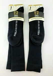 Noble Outfitters Ultra Thin Performance Boot Socks Lot of 2 Black Large