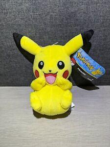 "Official Pokémon Tomy Happy Pikachu Soft Toy Plush New With Tags 9"" Nintendo"