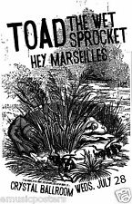 Toad The Wet Sprocket / Hey Marseilles 2010 Portland Concert Tour Poster