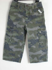 CALVIN KLEIN Size 2T Green Camouflage Cargo Jeans
