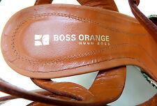 T O P HUGO BOSS Damen Leder Sandalette Art in Gr. 38 e v t l. 38.5 P A P A G E I
