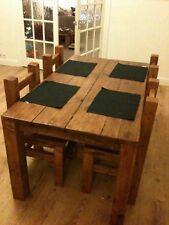 Handmade Chunky Reclaimed Rustic 5ft X 3ft Dining Table Light Oak Finish