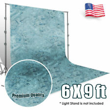 6X9 ft Photo Studio BLUES Hand Painted Tie Dye Muslin Screen Background Backdrop