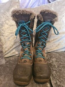 Ladies North Face Boots Uk 5 Primaloft Lining TNF Winter Grip Sole