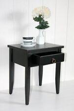 Massivholz Nachttisch Nachtkommode Beistelltisch schwarz shabby Nachtschrank NEU