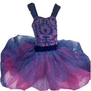Weissman SA Purple & Pink Dance Recital Tutu Adult Small Costume Ballet Dress