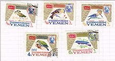 Yemen Kingdom Fauna Birds set 1968