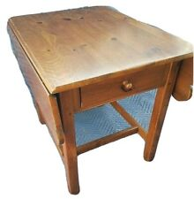 ETHAN ALLEN Country Craftsman End Table   19-8304   Pine Drop Leaf  Vintage