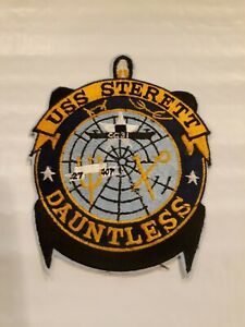 VINTAGE US NAVY USS STERETT  JACKET PATCH