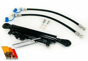 Hydraulic top link cat. 1-1 with locking block 530-810 mm with 2 x hose