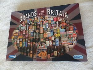 The Brands That Built Britain - Gibsons Puzzle - Jigsaw
