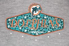 Miami Dolphins Reebok Sweatshirt Gray SMALL NFL Football Tropical
