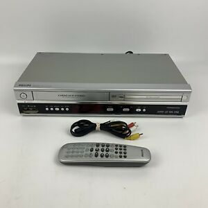 Philips VCR DVD Combo Dubbing Recorder DVP3050V/37 VHS w/ Remote & Cables Works!