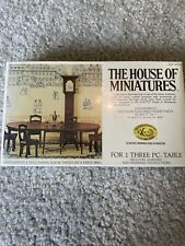 House Of Miniatures Hepplewhite 3 Piece Dining Table Kit 1:12 Scale