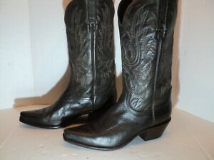 Charlie 1 Horse Lucchese Womans western boots Dark Brown Size 9B