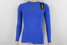 NEW PELADA MENS / BOYS LONG SLEEVE COMPRESSION TOP SIZE LARGE ROYAL BLUE (10,U