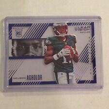 NELSON AGHOLOR #RV-8 EAGLES 64/99 Made 2015 Panini Clear Vision CLEAR SHOTS BLUE