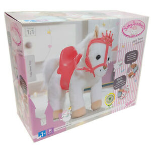 Baby Annabell Pony Little Sweet 36cm 705933 Soft White & Pink Sounds Age 1+