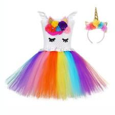 Nuevo vestido TUTÚ Unicornio Bebé Princesa para Niñas Hadas Falda Fiesta Ropa De Niños