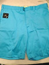 Loudmouth Golf Cotton Blend Solid Blue Golf Shorts NWT 42 waist