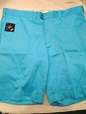 Loudmouth Golf Cotton Blend Solid Blue Golf Shorts NWT 42 waist