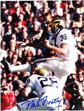 Mike Lantry signed 7x9 inch Michigan Wolverines color photo #1