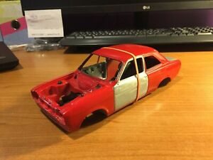1/18 scale, Minichamps, Ford Escort Mk1 Shell (3), red, spares or repairs