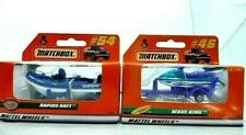 Matchbox Water Crafts w/Trailers Diecast Car Lot: Wave King Jet Ski/Rapids Raft