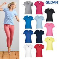 Gildan Women's Premium Cotton V-Neck T-Shirt 4100VL - Short Sleeve Polo T-Shirt