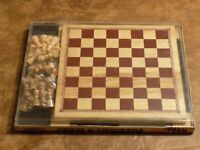 Woodfield Collection 2 In One Wood Chess & Checkers Game 2004 Cardinal