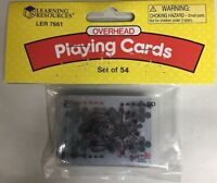 Overhead  Playing Cards, set of 54   Learning Resources LER 7661