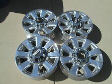 "20"" FORD F250 F350  FACTORY OEM  WHEELS RIMS PLATINUM POLISHED"