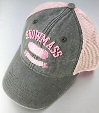 Gear Golf Hat Cap Ladies Womens Snowmass CO Colorado 67 Pink Grey Snapback