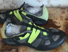 Men's DIESEL Sz 9 black/gray/green slip on running training athletic shoes