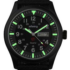 INFANTRY Herren Analog Quarz Armbanduhr Uhr Datumsanzeige Leuchtend Herrenuhr