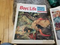 Vintage Boys' Life Magazine - May 1952 - Boy Scouts setting up Tent cover