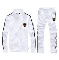 Men Full TrackSuit Jogging Top Bottom Sport Suit Sets Pants Trousers XS S M L XL