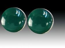 Green Onyx Sterling Silver Clip/Post Earrings Sale - Nwt Amy Kahn Russell